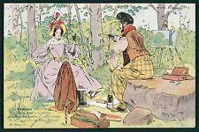 art Henry Morin Champagne Bulteaux Mimi Pinson advertising 1900s postcard