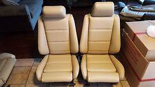 BMW E30 325i 318i M3 SPORT SEATS REUPHOLSTERED NATURAL GERMAN VINYL BEAUTIFUL