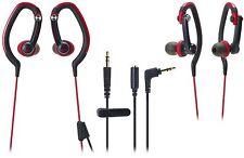 NEW Audio-Technica SonicSport In-Ear Waterproof  Headphones ATH-CKP200 RED