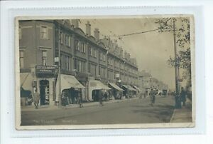 Real photo postcard of the parade at Winton banks Bournemouth Dorset good cond