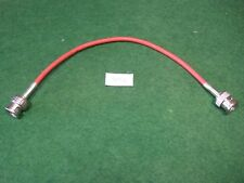 """BNC (M) - BNC (M) 75 Ohm 8"""" Video Jumper Cable - Used - Nice!"""