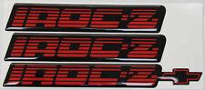82-92 Camaro IROC-Z Red Rocker Panel Emblem Set of 3 NEW EMBLEMS
