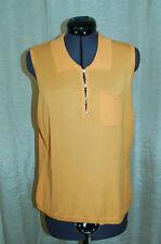 Oscar de la Renta Company Orange Rayon Blend Knit Top Shirt Size L