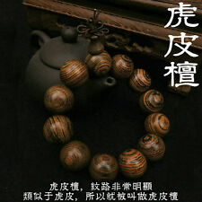 20mm Tibetan Buddhism tiger skin sandalwood beads Amulet Bracelet