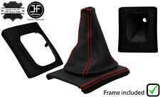 RED  STITCH LEATHER GEAR BOOT+SURROUND BASE FRAME FOR VW GOLF MK3 JETTA 91-98