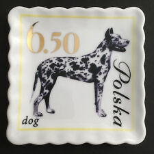 Collectable Great Dane Dog Plate Doghaus Ceramic Catch All Tray Jewelry Dish