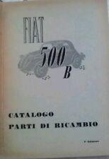 Catalogo parti di ricambio FIAT 500 B
