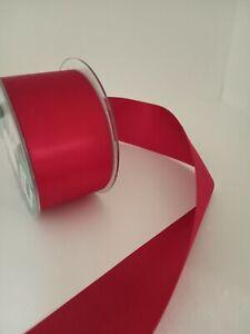 2 metres of  red satin ribbon ideal for  christmas ribbon