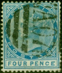 Dominica 1879 4d Blue SG7a Malformed CE in Pence Good Used