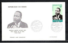 Congo  enveloppe  1er jour  Pasteur Martin Luther King   1968
