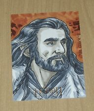 2014 Cryptozoic Hobbit Unexpected Journey LOTR SKETCH card Fer Galicia THORIN