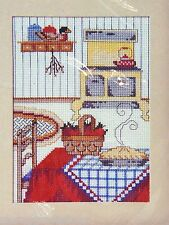 1988 Creative Circle COZY KITCHEN Counted Cross Stitch Kit - NIP