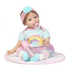 22'' NPK Silicone Vinyl Reborn Doll Newborn Toddler Baby Girl Dolls + Clothes
