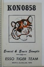 HAM Radio Card Cleveland TN KON 0858 Esso Tiger Team Vintage Short Wave Sample