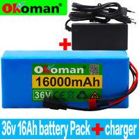 Li-ion Battery 36V 16AH Volt Rechargeable Bicycle 500W E Bike Electric Li-ion