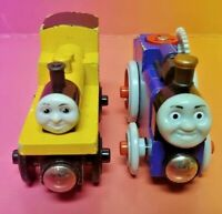 Genuine Thomas the Train Friends Wooden Railway Duncan + Fergus Tractor Blue Red