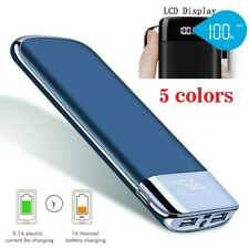 Portable 10000mAh External Power Bank Pack 2USB Battery Charger fr Mobile Phone