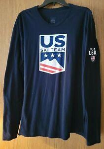 US Ski Team Long Sleeve T-Shirt Mens 2XL USA