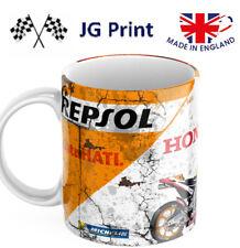 Repsol Honda Moto GP ceramic Motorbike mug Vintage Oil Can