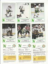 1985-86 North Stars 7-Eleven Hockey Police Fire Safety Set