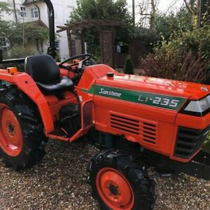 kubota tractor sunshire 1s-235 with grader