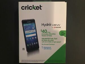 Kyocera - Hydro View - 4G LTE Smartphone - Cricket Wireless - Android - Black -