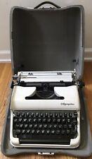 Vintage Olympia Cream Black  Keys DeLuxe Portable Typewriter SM3 Hard Shell Case