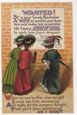 Wanted!, A Wife, Apply At Once, Birn Bros. Comic Postcard B625