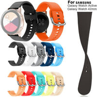 Replacement Watch Band Silicone Strap 20mm For Samsung Galaxy Watch Active 42mm