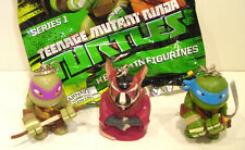 Teenage Mutant Ninja Turtles KEYCHAIN FIGURINES Lot of 3 Donatello LEONARDO TMNT