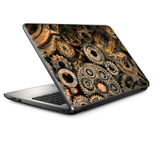 """Universal Laptop Skins wrap for 15"""" - Old Gears Steampunk Patina"""