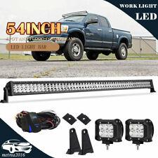 "54"" LED Light Bar +4"" Pods w/Wiring For 2003-17 Dodge Ram 1500 2500 3500"