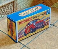 MATCHBOX SUPERFAST NO.29B, RACING MINI, CUSTOM REPLACEMENT DISPLAY/STORAGE BOX