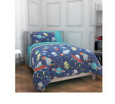 Mainstays Kids Outer Space Bed In Bag Bedding 5 piece Set