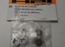 Rare New HPI 14mm Hex Wheel Hub (4pcs, Silver Finished) 86066