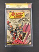 Action Comics #252 SUPERGIRL ORIGIN 1st appearance SIGNED helen slater CGC 3.0