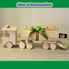 Camion en bois porte bouteille biere deco cadeau fete des peres