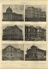 1906 Brisbane, National Bank, Plans Office, Treasury Buildings, Woollongabba