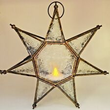 Moroccan Style Lantern Iron Hanging Star Antique Tea Light Candle Holder 40111