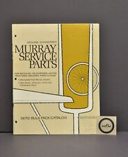 Vtg 1970 Murray Bicycle Service Parts Catalog Book Huret Shimano Excel Yoshikawa