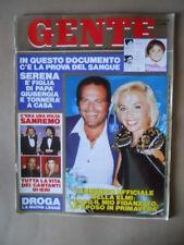 GENTE n°51 1989 Giovanna Elmi Rossella Falk Cristina D'Avena Zecchino [G66B]