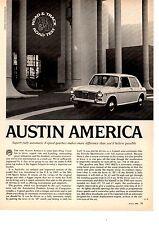 1968 AUSTIN AMERICA   ~  ORIGINAL 3-PAGE ROAD TEST / ARTICLE / AD