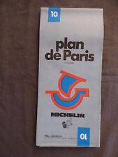 Plan de Paris Michelin n°10  1974 1ere edition