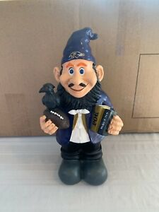 """Baltimore Ravens NFL Garden Team Gnome 10"""" Forever Collectibles Brand New"""