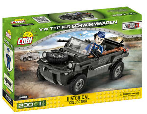 Cobi 2403 VW Type 166 Schwimmwagen (200pcs) Building Blocks WWII