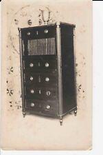 Antique Original Louis XVI Cabinet Walnut Brass Rail 1915 Furniture Photograph