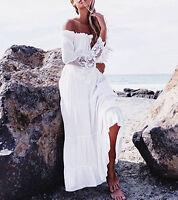 Boho Women Long Maxi Summer Dress Evening Party Casual Beach Lady Dress Sundress