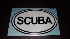 SCUBA Oval diving dive decal Vinyl car truck minivan van window decal sticker