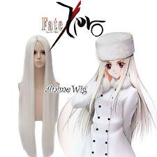 100CM Anime for Fate Zero Irisviel Von Einzbern White Long Straight Cosplay Wig
