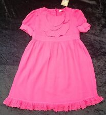 NWT Juicy Couture New Pink Silk Short Sleeve Lined Party Dress Girls Age 8